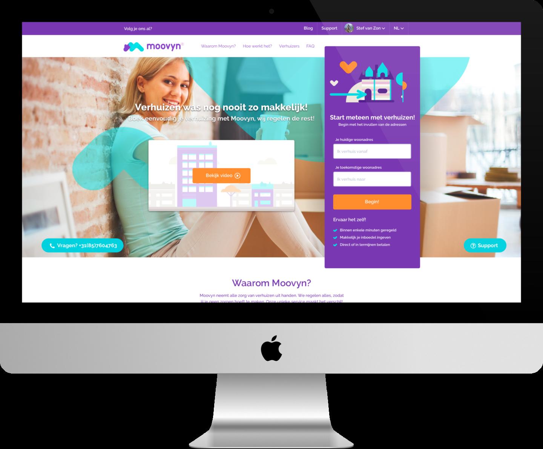 Moovyn homepage